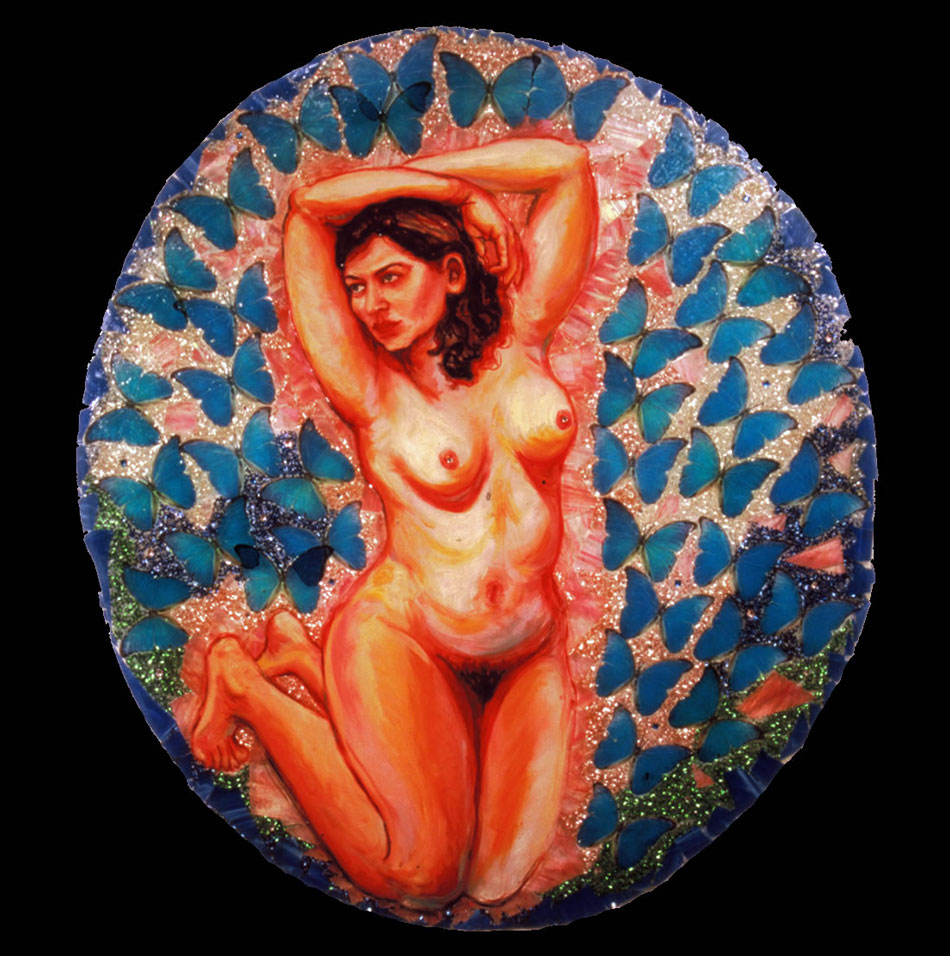 """Kathryn as """"Transformation"""" (Stained Glass Painting"""